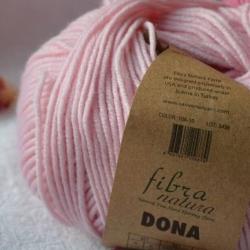 Fibranatura Моточная пряжа Dona материал меринос цвет розовый зефир 106-10