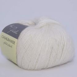 Casagrande Моточная пряжа La Perla материал альпака, шелк цвет белый 01