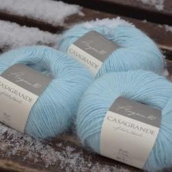 Casagrande Моточная пряжа Angora 80 материал ангора цвет голубой