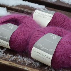 Casagrande Моточная пряжа Angora 80 материал ангора цвет маджента