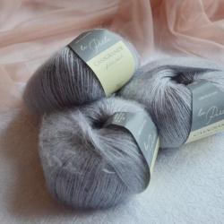 Casagrande Моточная пряжа La Perla материал альпака, шелк цвет серо-лиловый